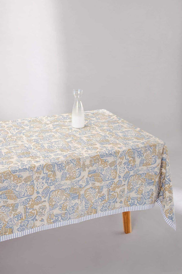 Buy Ninti Table Cover (Purple/Khaki) Online | Freedomtree.in