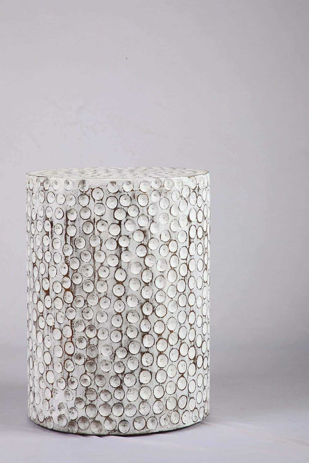 Buy Nomad Side Table (Washed White) Online | Freedomtree.in