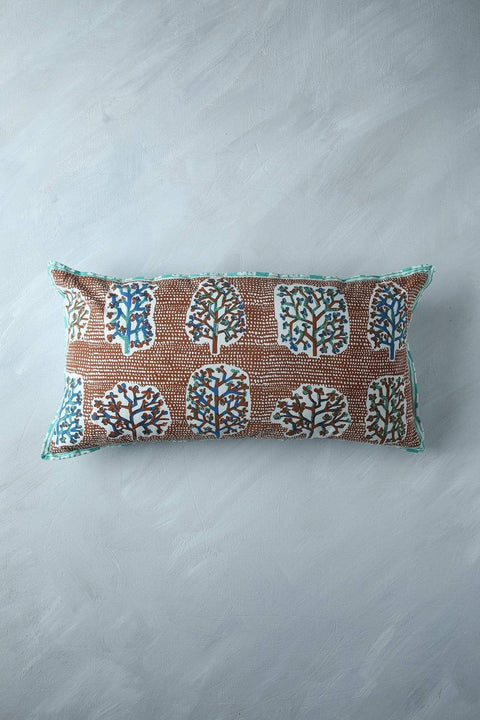 Buy Palash (12 X 24 In) Cushion Cover (Amber) Online | Freedomtree.in