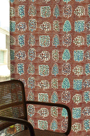 Buy Palash Cotton Fabric And Curtains (Amber) Online | Freedomtree.in