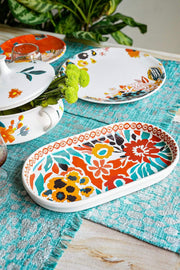 Buy Para Para Large Oval Platter (Multi-Colored) Online | Freedomtree.in