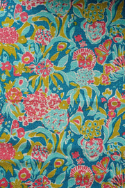 Buy Para Para Printed Rug (Teal/Pink) Online | Freedomtree.in