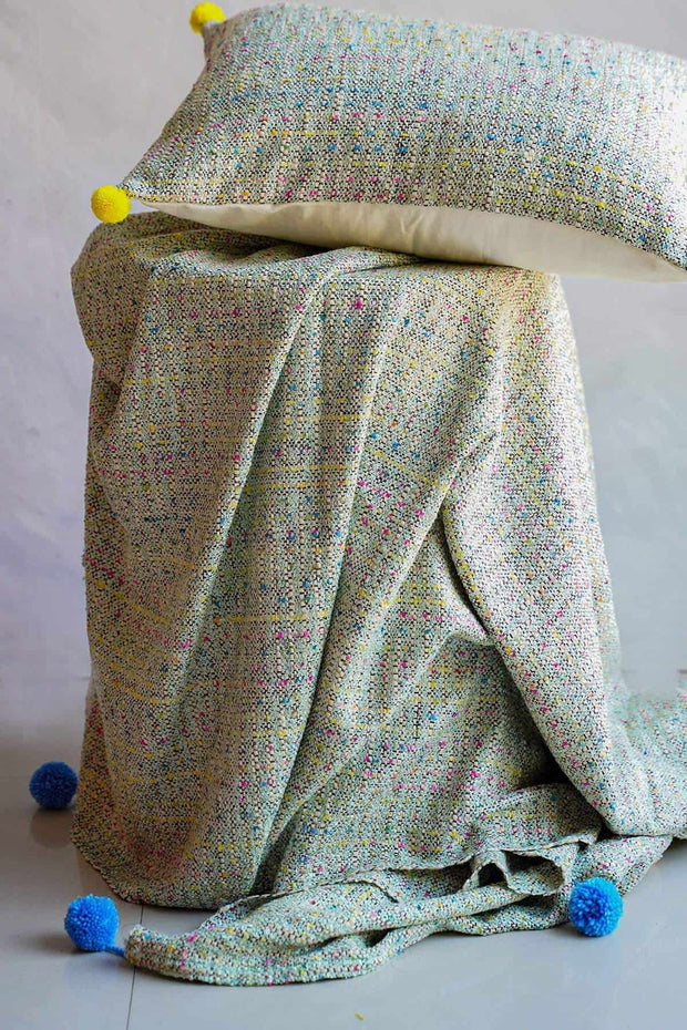 Buy Peekaboo Tweed Throw (Multi-Colored) Online | Freedomtree.in