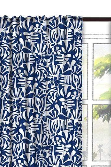 Buy Puzzle Tree Cotton Fabric And Curtains (Dark Blue) Online | Freedomtree.in