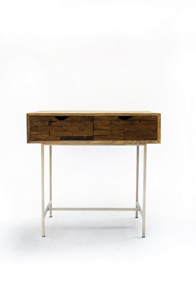Mango Wood Console In Natural Color And Tropical Modern Hardwood Design