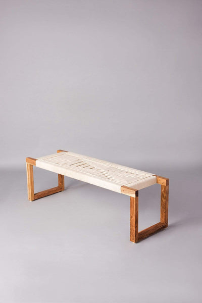 Buy Retro Rush Rope Bench (Natural) Online | Freedomtree.in