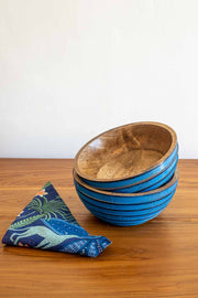 Buy Ribbed Bowl (Blue) Online | Freedomtree.in