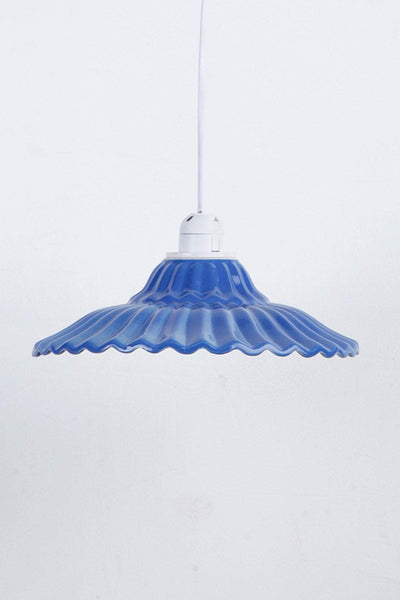 Ceramic Ceramic Pendant Lamp In Mid Blu/Burgun Color And Handcrafted Style