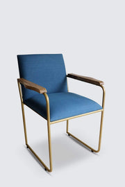 Buy Metal Desk Accent Chair (Natural) Online | Freedomtree.in