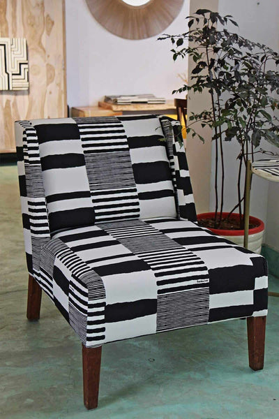Buy Salaka Upholstery Fabric (Black/White) Online | Freedomtree.in