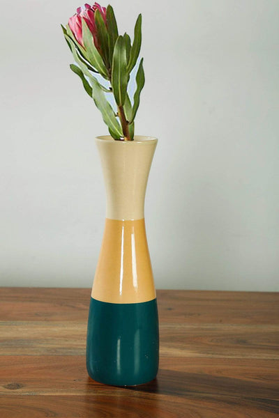 Buy Scandic Stripes Ceramic Vase (Multi-Colored) Online | Freedomtree.in