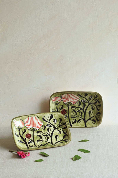 Buy Semanae Olive Nut Tray (Set Of 2) Online | Freedomtree.in