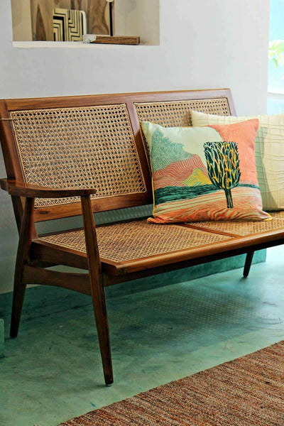 Buy Sinni Twin Seater Wicker Chair Online | Freedomtree.in