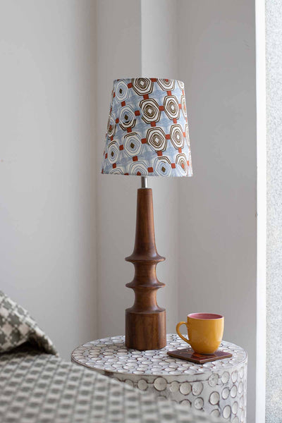 Buy Small Sej Taper Lampshade (Blue/Grey) Online | Freedomtree.in