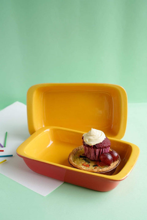 Buy Solid Baking Dish (Mango/Coral) Online | Freedomtree.in