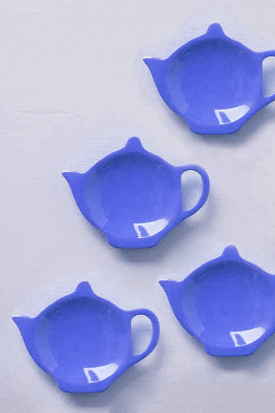 Buy Solid Mid Blue Tea Bag Thinggy (Set Of 4) Online | Freedomtree.in