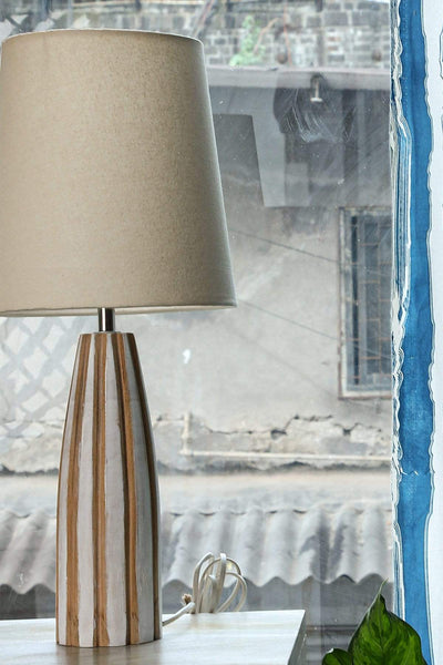 Buy Solid Taper Lampshade (Ivory) Online | Freedomtree.in