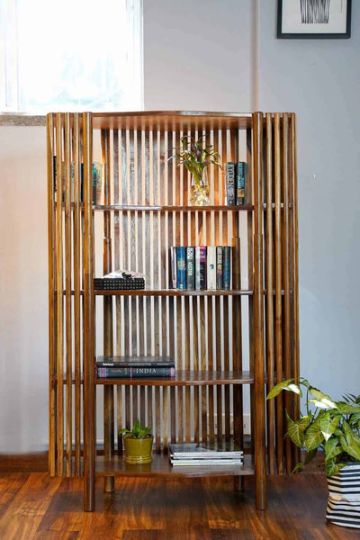 Buy Spindle Bookshelf (Natural) Online | Freedomtree.in