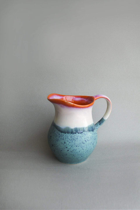 Ceramic Water Jug In Sunset Shade And Handcrafted Ceramic Glaze Style