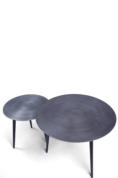 Metal Side Table In Metallic Color And Luxury Industrial Style