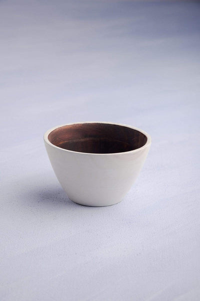 Buy Tamor Solid Nut Bowl (Natural/White) Online | Freedomtree.in