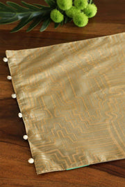 A Set Of 4 Polysilk Table Mat In Olive/Gold Shade