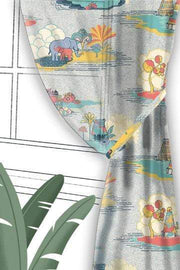 Temple Town Grey Sheer Fabric And Curtains