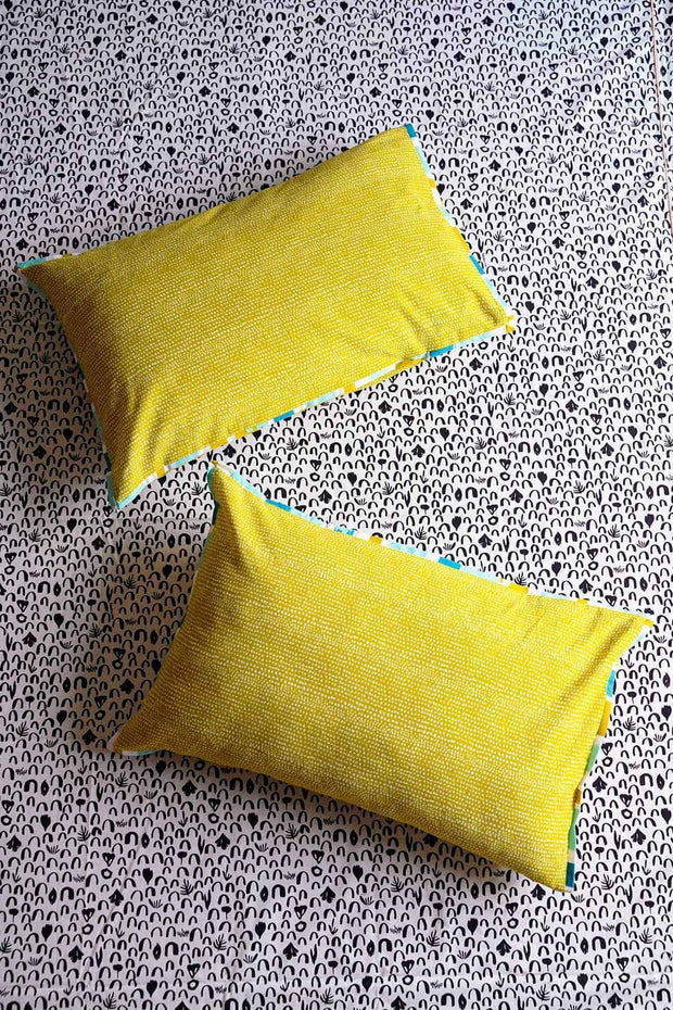 Buy Tippi Pillow Cover (Lime Yellow) Online | Freedomtree.in