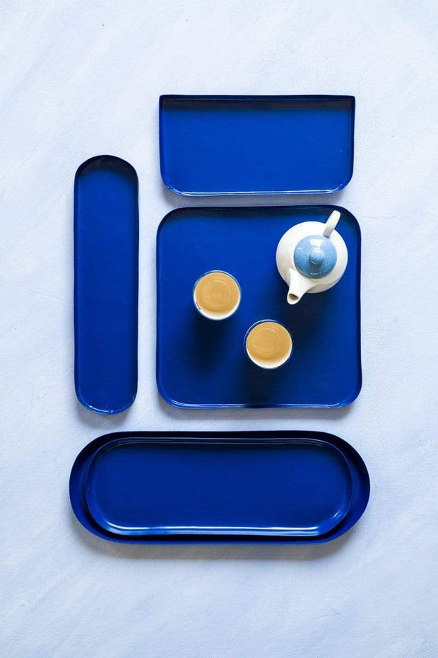 Buy Trapezium Tray (Blue) Online | Freedomtree.in