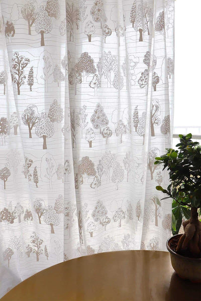 Treeline Khadi Sheer Fabric And Curtains (Voile)