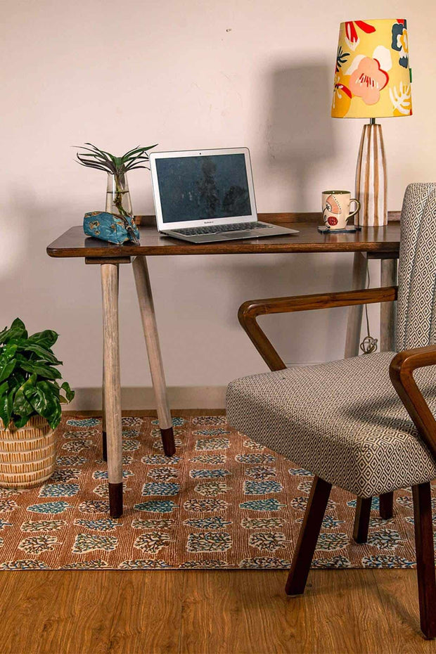 Buy Trestle Table Mango Wood Study Table (Natural) Online | Freedomtree.in