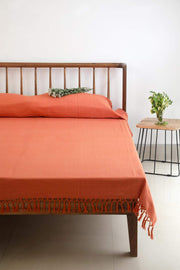 Buy Vaira Bedcover (Onion Pink) Online | Freedomtree.in