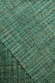 Cotton & Viscose Tweed Upholstery In Green/Lime Color And Woven Textured Design