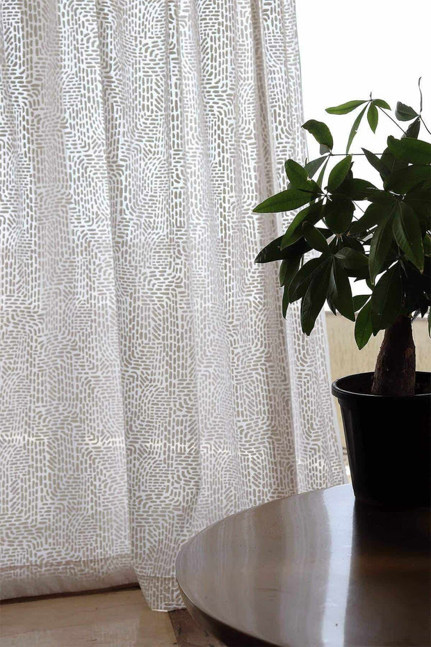 Waymore Khadi Sheer Fabric And Curtains