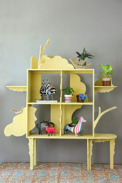 Buy Whimsy Bookshelf (Yellow) Online | Freedomtree.in