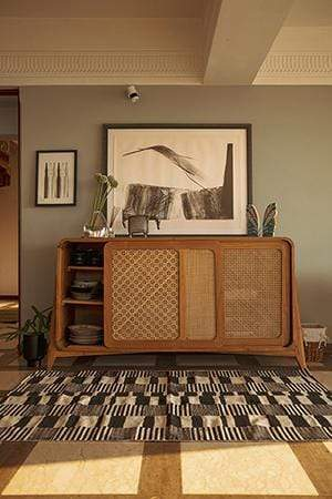 Wicker Sideboard (Teak Wood)