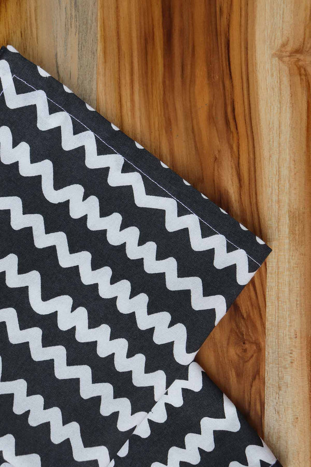 Worli Water Dinner Napkin Charcoal (Set of 4)