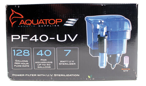 Aquatop Aquatic Supplies - Hang On Filter With Uv Sterilizer