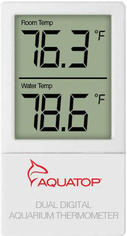Aquatop Aquatic Supplies - External Digital Dual Temp Display Thermometer