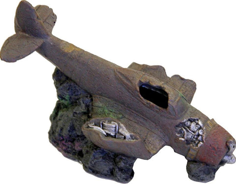 Blue Ribbon Pet Products - Exotic Environments Sunken Wwii Plane With Cave