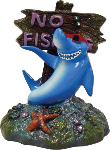 Blue Ribbon Pet Products - Exotic Environments Cool Shark No Fishing Sign