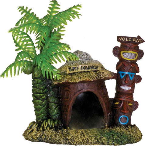 Blue Ribbon Pet Products - Exotic Environments Betta Hut With Palm Tree