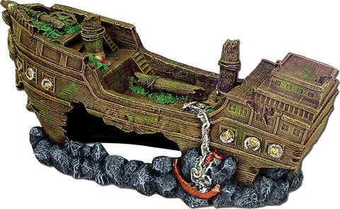 Blue Ribbon Pet Products - Exotic Environments Jumbo Shipwreck