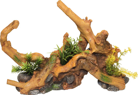 Blue Ribbon Pet Products - Driftwood Centerpiece With Plants