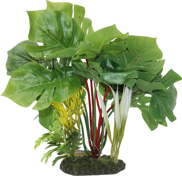 Blue Ribbon Pet Products - Tropical Gardens Split Green Leaf Philodendron