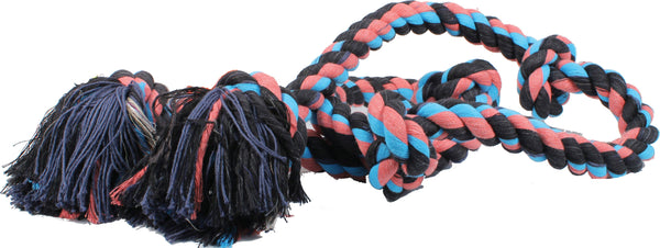Mammoth Pet Products - Flossy Chews Color 5 Knot Super Rope Tug Dog Toy