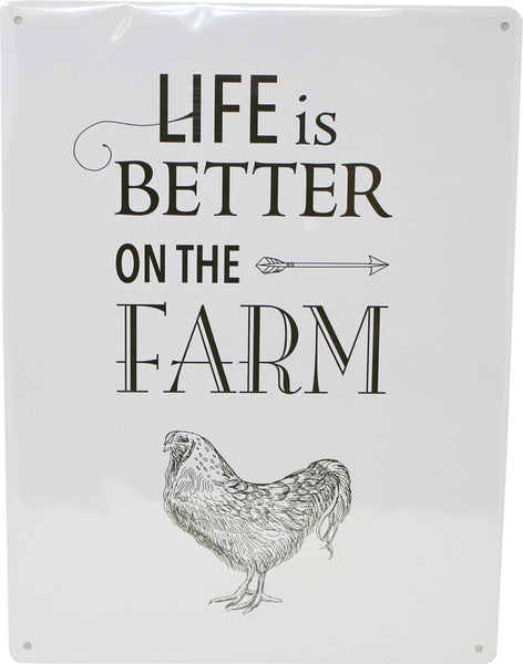 My Favorite Chicken - Life Is Better On The Farm Metal Sign