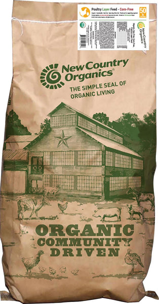 New Country Organics - Certified Organic Corn-free Layer Feed