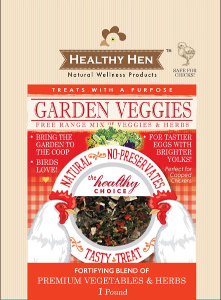Innovation Pet - Poultry - Healthy Hen Garden Veggies Chicken Treat