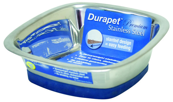 Ourpets Company - Durapet Stainless Steel Square Bowl